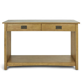 Mission Style Chestnut Console Table view 1