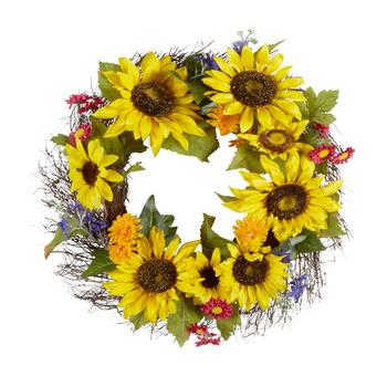 "22"" Sunflower/Daisy Wreath"