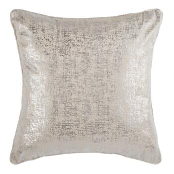 Solid Metallic Velvet Square Throw Pillow