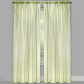 Voile Rod Pocket Window Curtains, Set of 2 view 2