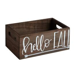 """Hello Fall"" Printed Storage Crate"