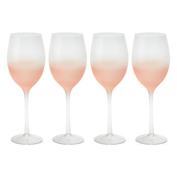 Frosted Ombre Wine Glasses, Set of 4 view 1