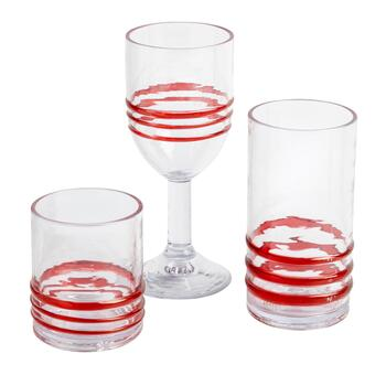 Red Bohemian Rings Acrylic Glasses Collection