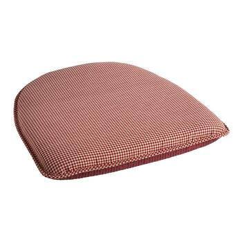 Red Checkered Nonslip Chair Pad