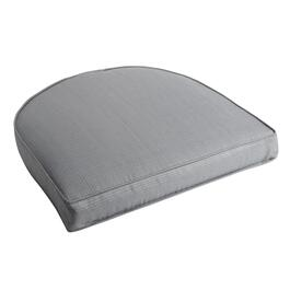 Solid Gray Indoor/Outdoor Gusset Seat Pad