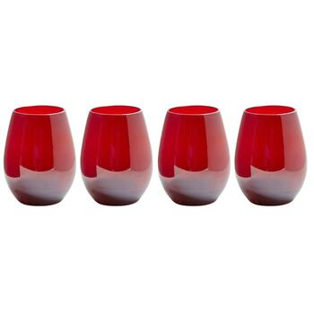 Colored Stemless Wine Gles Set Of 4 Christmas Tree S And That
