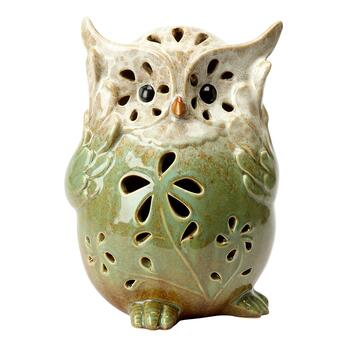 "11"" Green Hear No Evil Owl Decor"
