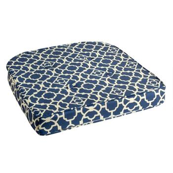 Waverly® Scroll Indoor/Outdoor Button-Tufted Seat Pad