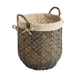 The Grainhouse™ Gray Woodchip Lined Laundry Basket view 1
