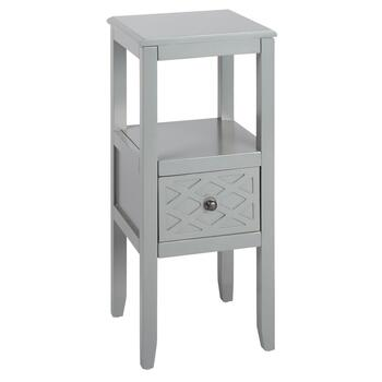 1-Drawer Accent Table with X-Pattern