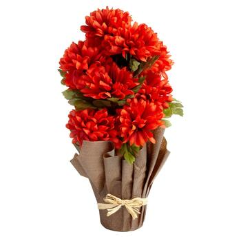 "21"" Artificial Chrysanthemum Flower Pot"