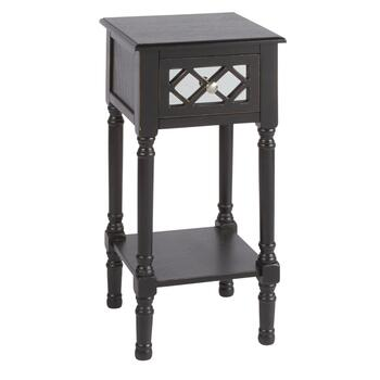 Mirrored 1-Drawer Accent Table