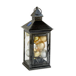 "15"" Silver/Gold Balls Color-Changing Solar Lantern view 1"