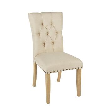 Upholstered Preston Dining Chairs with Nailheads, Set of 2