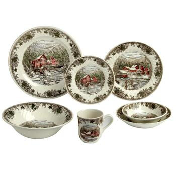 Winter Village Ceramic Dinnerware