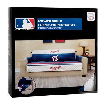 MLB Washington Nationals Reversible Sofa Cover