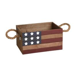 USA Stars and Stripes Slatted Wood Crate