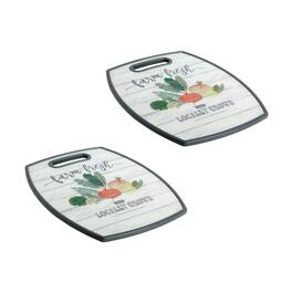 "The Grainhouse™ 12""x15"" ""Farm Fresh"" Cutting Boards, Set of 2"