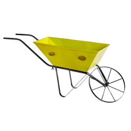 "20"" Narrow Metal Wheelbarrow Planter view 1"