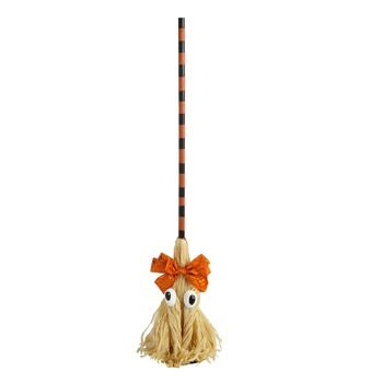 "48"" Googly Eyed Halloween Broom Decor"