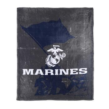 "50""x60"" US Marine Military Throw Blanket"