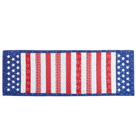 Stars and Stripes Applique Cotton Table Runner