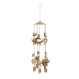 "33"" Elephants and Bells Wind Chime view 1"
