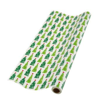 Christmas Trees Gift Wrapping Paper Roll