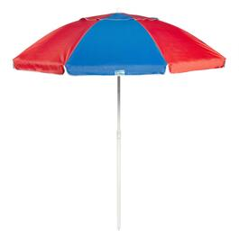 7' Blue/Red Tilt Beach Umbrella