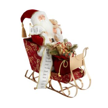 "18"" Santa in Sled Decor"
