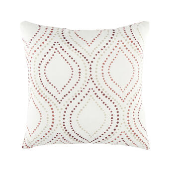 Dotted Ogee Square Throw Pillow view 1