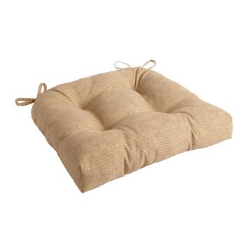 Solid Beige Indoor/Outdoor Single-U Seat Pad
