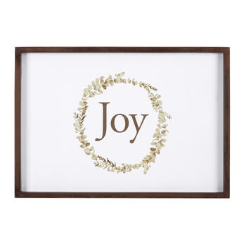 "19""x27"" ""Joy"" Wreath Wall Decor view 1"