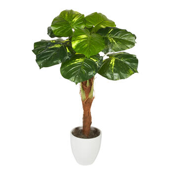 "60"" White Ceramic Pot Artificial Floor Topiary Plant view 1"