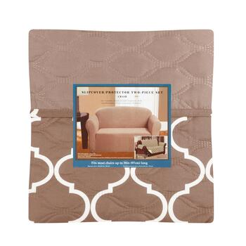 Solid/Pattern Chair Slipcover & Furniture Protector Set, 2-Piece