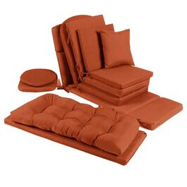 Solid Tangerine Indoor/Outdoor Chair Pads Collection