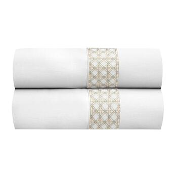 Waverly® Crisscross Embroidered Standard Pillowcases, Set of 2