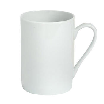 Basic White Cone-Shaped Ceramic Mugs Set, 6-Piece view 1