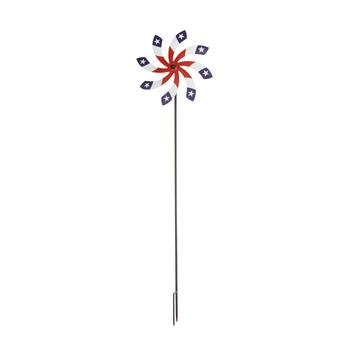 "40"" White Star Wind Spinner Stake"