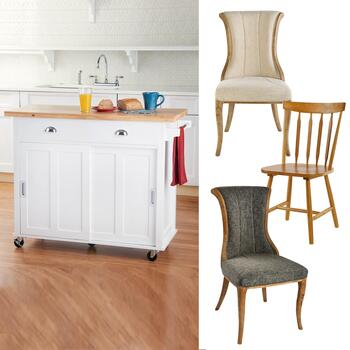 Kitchen Island & Dining Chairs