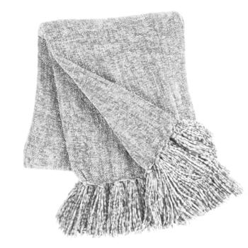 Soft Chenille Throw Blanket with Fringe