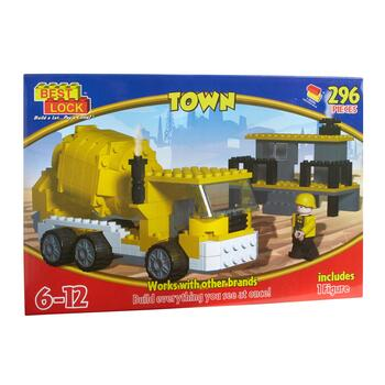 Best Lock™ Town Cement Mixer Block Play Set, 296-Piece
