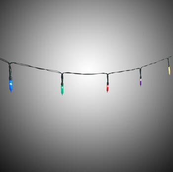 7' Traditional Multicolored LED Indoor String Lights, Set of 4