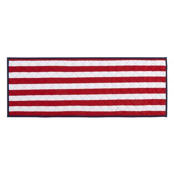 Stars & Stripes Quilted Reversible Table Runner