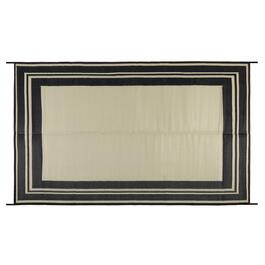 Beige Border Reversible All-Weather Patio Mat