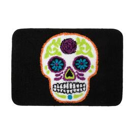 "18""x26"" Day of the Dead Skull Bath Mat"
