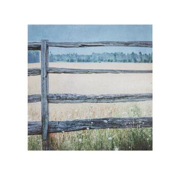 "20"" Fence and Field Canvas Wall Art"