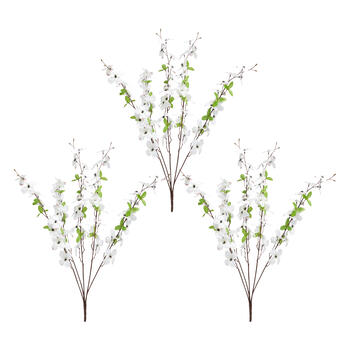 White Dogwood Artificial Flower Bushels, Set of 3 view 1