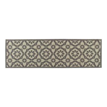 Gray Medallion Pattern All-Weather Area Rug view 2 view 3