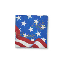 Red, White & Blue Stars & Stripes Lunch Napkins, 120-Count view 1